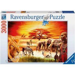 RAVENSBURGER PUZZLE 3000 MASAJOWIE, SAWANNA 17056