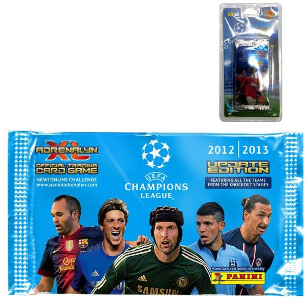 KARTY BLISTER 5 SASZETEK ADRENALYN XL UEFA CHAMPIONS LEAGUE PANINI