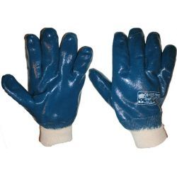 Rękawice nitrylowe olejoodporne zakończone ściągaczem