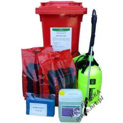 MZE-SSG+D-120L - mobilny zestaw ekologiczny - sorbent sypki granulat + dyspergent - 120L
