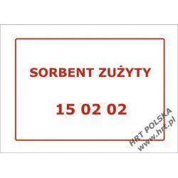 Samoprzylepna etykieta kodu odpadu 15 02 02 - 1 szt.