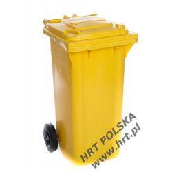 Pojemnik na odpady - 120L - żółty renomowanej marki WEBER