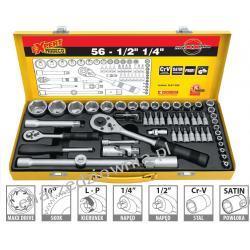 Komplet kluczy nasadowych i grotów - 56 części, MN-57-256