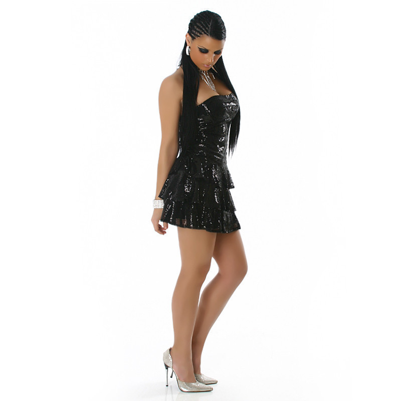 f72c4d69 Prześliczna Czarna Cekinowa Sukienka Tilona Rozm.m, SUKIENKI SKLEP ELIZA