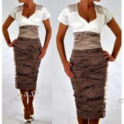 "Seksowna sukienka ""Helena"" duże rozmiary 46"