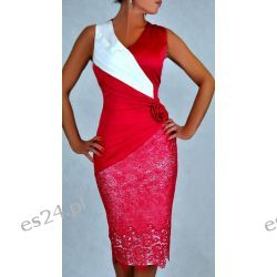 "Seksowna sukienka ""Monique"" duże rozmiary amarant 50"