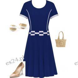 Śliczna sukienka Marta szafir 48