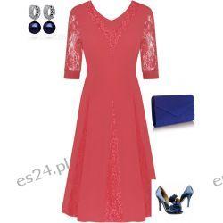 Śliczna sukienka koralowa Agnieszka 48
