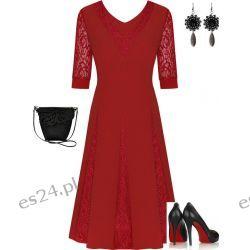 Śliczna sukienka czerwona Agnieszka 46