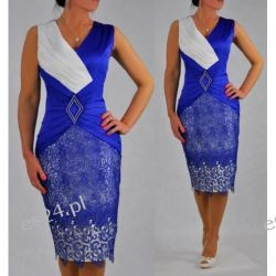 Śliczna sukienka Pamela szafir 46