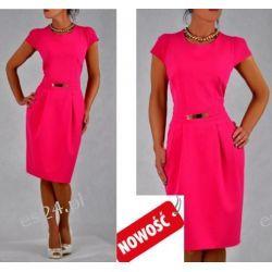 Śliczna sukienka amarantowa Spors 46