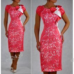 Elegancka sukienka koralowa Gloria 46
