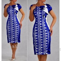 Elegancka sukienka szafirowa Gloria 46