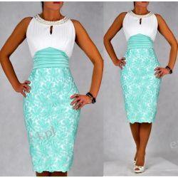 """Seksowna sukienka """"Clementine"""" duże rozmiary mięta 50"""