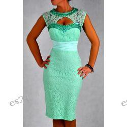 """Seksowna sukienka """"Eliza""""duże rozmiary mięta 50"""