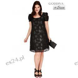 Śliczna czarna sukienka z szyfonu w kwiaty 48
