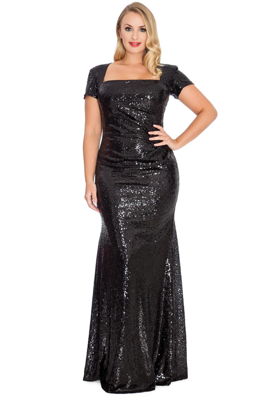 c423591b4a Zjawiskowa Sukienka Z Cekinów Czarna 52