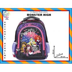 MONSTER HIGH Plecak szkolny 2 komory TYCHY