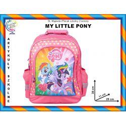 MY LITTLE PONY Plecak szkony 2 komory TYCHY