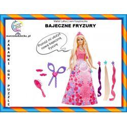 Lalka Barbie Bajeczne fryzury Księżniczka Tychy