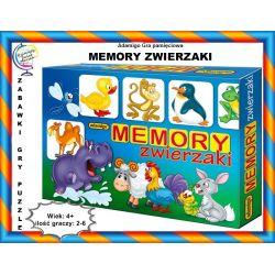 Gra pamięciowa MEMORY ZWIERZAKI 4+ Adamigo Tychy