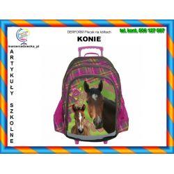 Plecak szkolny na kółkach KONIE HORSES 6+ TYCHY