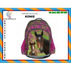 KONIE Horses Plecak dwukomorowy 3 kieszenie TYCHY
