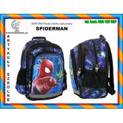 SPIDERMAN Plecak dwukomorowy 3 kieszenie TYCHY