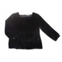 Welurowa bluzka-tunika Zara