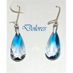 Kolczyki z migdałowym kryształem Swarovskiego Ocean Blue Na rękę