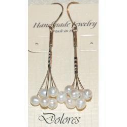 Kolczyki z perłami słodkowodnymi Na rękę