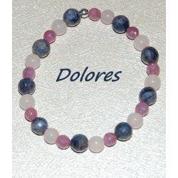 Bransoletka z rubinami, szafirami i kwarcem różowym Na rękę