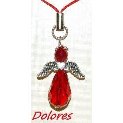 Czerwony aniołek z jadeitową główką - zamiast czerwonej wstążeczki Na rękę