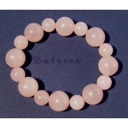 Bransoletka z kwarcu różowego kulki 10 i 14 cm