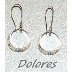 Kolczyki srebrne z kryształkami Swarovskiego dyski o średnicy 12mm Na rękę