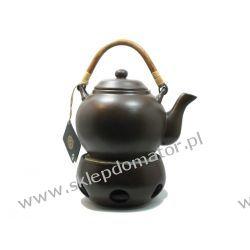 Dzbanek z podgrzewaczem - 1.1 litra - ciemny brąz - Herbata GRATIS!!!