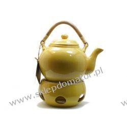Dzbanek z podgrzewaczem - 1.1 litra - miodowy -Herbata GRATIS!!!