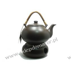 Dzbanek z podgrzewaczem - 1.7 litra - ciemny brąz - Herbata GRATIS