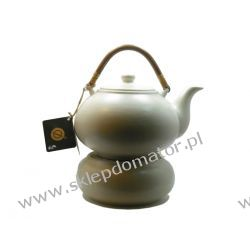 Dzbanek z podgrzewaczem - 1.7 litra - ecru mat - Herbata GRATIS!!!