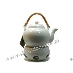 Dzbanek z podgrzewaczem - 1.1 litra - biały - Herbata GRATIS!!!