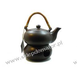 Dzbanek z podgrzewaczem - 0.5 litra - ciemny brąz - Herbata GRATIS!!!