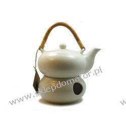 Dzbanek z podgrzewaczem - 0.5 litra - ecru mat- Herbata GRATIS!!!