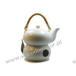 Dzbanek z podgrzewaczem - 0.5 litra - biały mat- Herbata GRATIS!!!