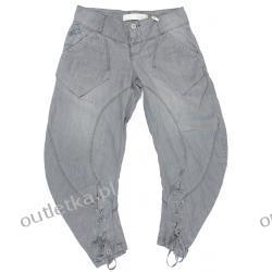 Spodnie damskie, Culture, szare, ekologiczny materiał
