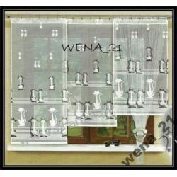 NOWOCZESNA FIRANKA FIRMA HAFT WYS 120 cm