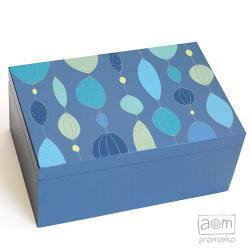 pudełko duże - łezki niebieskie