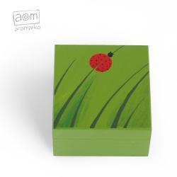 pudełeczko 10x10cm - biedronka