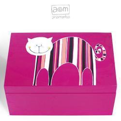 pudełko 20x30 - kociak róż