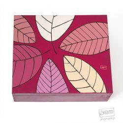 herbatnica - różowe liście