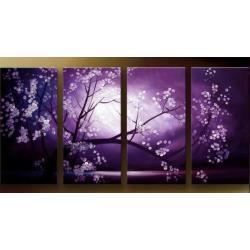 """""""fioletowy sen"""" bardzo nastrojowy obrazy nowoczesne w technice strukturalnej Akryl"""